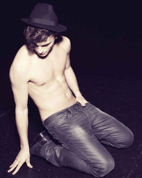 Male model Oscar Spendrup underwear shots
