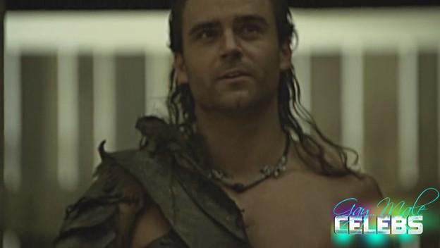 Dustin Clare in Spartacus Gods of the Arena